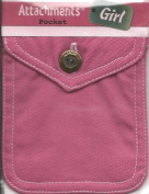 Pink Fabric Pocket Scrapbook Sticker