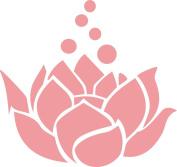 Lotus Flower Decal Sticker Cute for Car Truck Notebook Laptop 13cm Light Pink