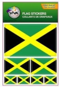 Jamaica Country Flag Set of 7 Different Size Collection Decal Stickers ... New in Package