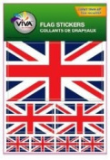 United Kingdom UK Great Britain Country Flag Set of 7 Different Size Collection Decal Stickers ... New in Package