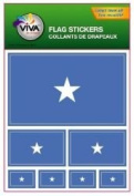 Somalia Country Flag Set of 7 Different Size Collection Decal Stickers ... New in Package