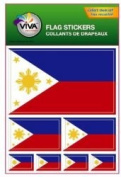 Philippines Country Flag Set of 7 Different Size Collection Decal Stickers ... New in Package