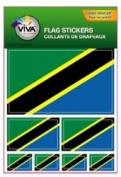 Tanzania Country Flag Set of 7 Different Size Collection Decal Stickers ... New in Package