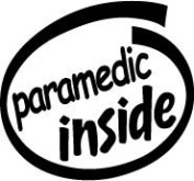 Paramedic Inside Vinyl Graphic Sticker Decal