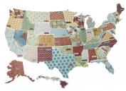 K & Company Die-Cut Cardstock, Tim Coffey Travel States