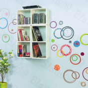 Colourful Circle 2 - X-Large Wall Decals Stickers Appliques Home Decor
