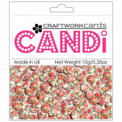 Candi Dot Printed Embellishments .1040ml-Rose Bouquet