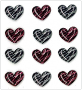 Jolee's Boutique Cabochons Dimensional Stickers, Wild Hearts