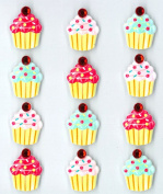 Jolee's Boutique Cabochons Dimensional Stickers, Cupcakes