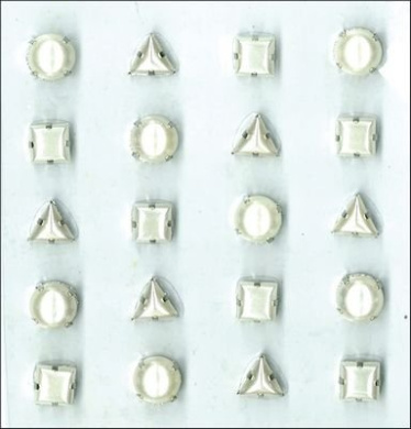 All That Bling Dimensional Pronged Gem Stickers: Pearl