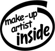 Make-up Artist Inside Vinyl Graphic Sticker Decal