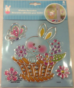 Easter Bunny Window Decoration Sticker Decal
