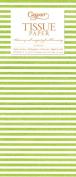 Entertaining with Caspari Tissue Paper, Seersucker Stripe Green, 4-Sheets