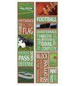 Football Photo Banner Cardstock Sticker Sheet