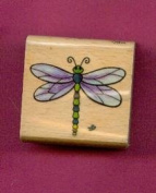 Dragonfly Rubber Stamp on 1.5 X 1.5 Block