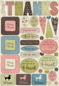 Karen Foster Design Acid and Lignin Free Scrapbooking Sticker Sheet, Thank You