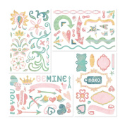 Basic Grey 2 Scoops Die-Cut Chip Stickers, Shapes 97 Per Package
