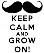WHITE 15cm Keep Calm And Grow On! Sticker Decal