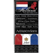 Holland the Netherlands Scratchy Scrapbook Stickers