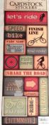 Cycling Cardstock Stickers