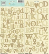 Heidi Grace Designs Alphabet Cardstock Stickers - Meadow
