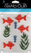 Goldfish Stand-Outs Quilled Scrapbook Stickers