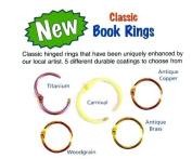 American Tag 1.9cm Book Rings Carnival 5/Pkg