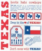 Texas Say It With Stickers Scrapbook Stickers