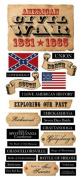 American Civil War Cardstock Scrapbook Stickers