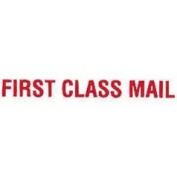 """Universal Office Products Pre-Inked """"First Class Mail"""" Rubber Stamp -Red Ink-"""