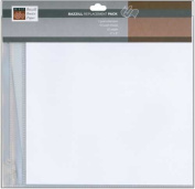 10 Bazzill Basics 20cm x 20cm Page Protectors for Post Bound Albums