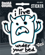 David and Goliath - I Live Under Your Bed Die Cut Vinyl Sticker Decal