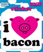 David and Goliath - I Heart Bacon Die Cut Vinyl Sticker Decal