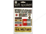 Me & My Big Ideas Soft Spoken 3 Dimensional Embellishments-Welcome Home Hero