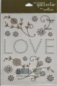 Love Flourish Metallic Foil and Gemstone Scrapbook Stickers