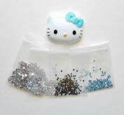 LOVEKITTY DIY 3D Bling Blue Bow Hello Kitty Face Bling Deco Kit / Set