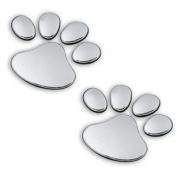 3d PVC Dog Footprint Car Sticker Auto Car Emblem Decal Decoration