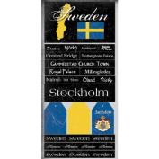 Sweden Scratchy Scrapbook Stickers