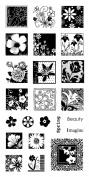 Inkadinkado Flower Garden Clear Stamps