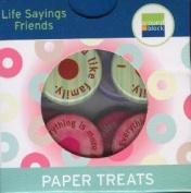 Friendship Life Sayings Paper Treats Epoxy Scrapbook Stickers