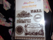 "Pink Paislee Impressions Clear Stamps ""Amber Road"""