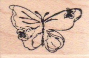 Butterfly Wood Mounted Rubber Stamp