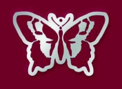 American Traditional Designs Stainless Steel Stencil - Butterfly Ornament