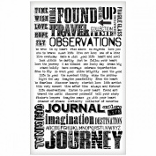 Words Remnant Rubs by Tim Holtz Idea-ology, 13cm x 18cm , 2 Sheets, Black/White, TH93055