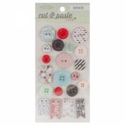 Cut & Paste Flair Decorative Chipboard Buttons-Snapshots