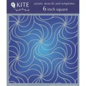 Judikins 15cm Square Kite Stencil-High Anxiety