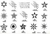 HotEnergy Temporary Transfers Tattoo Removable Design Body Art Stickers Waterproof sticker