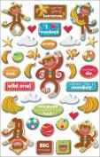 Monkey Business Glitter Epoxy Stickers: