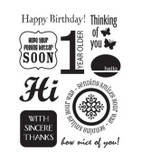 Stampology Clear Stamps Full Sheet - Card Sentiments