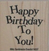 """""""Happy Birthday to You"""" Rubber Stamp"""